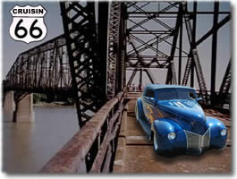 Old Route 66 Chain of Rocks bridge over the Mississippi, St. Louis