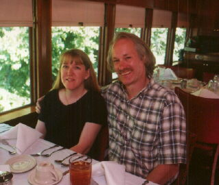 Maureen & Jim in the Eureka Dining Car train