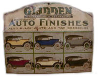 Glidden auto paint sign
