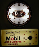 Auto paint clocks