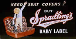 Baby Label seatcover sign